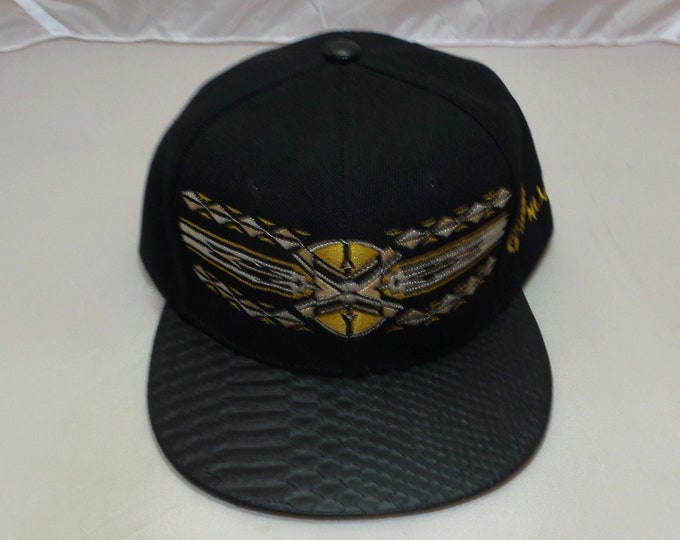 Buckle-back Flat-Brim Hat - Native (One of a kind)