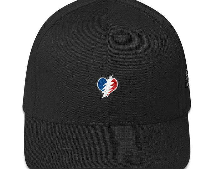 Flex-Fit Bent-Brim Hat - 13 Point Bolt Heart