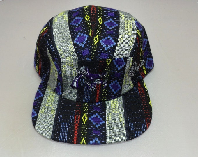 Strap-back Flat-Brim Hat - Too Much Too Fast (One-of-a-kind)