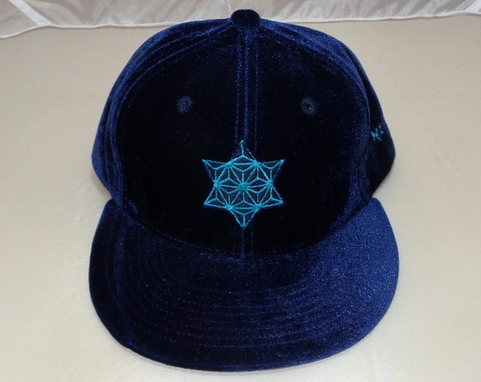 Snapback Flat-Brim Hat - Star (One-of-a-kind)
