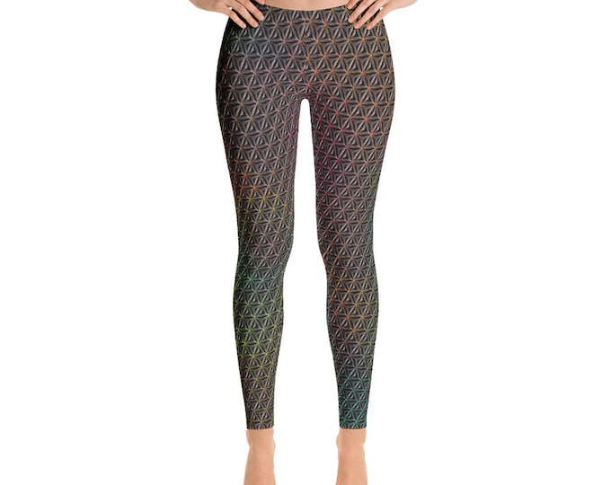 Leggings - 3D Rainbow Flower of Life
