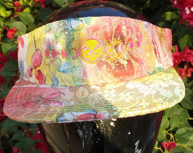 Snapback Flat-Brim Visor - Moon Phases (One-of-a-kind)
