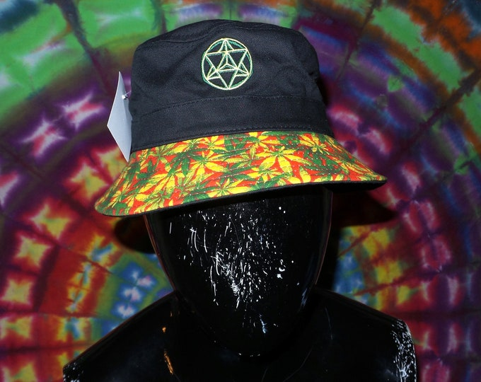 Bucket Hat - Star Tetrahedron (One-of-a-kind)