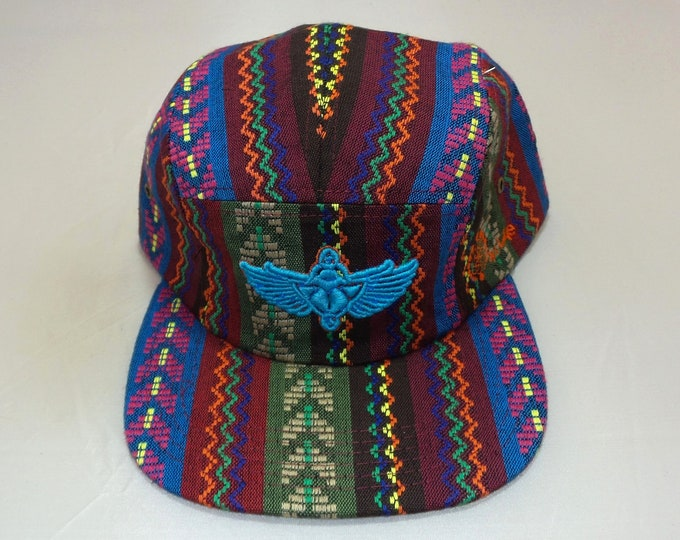 Strap-back Flat-Brim Hat - Scarab (One-of-a-kind)