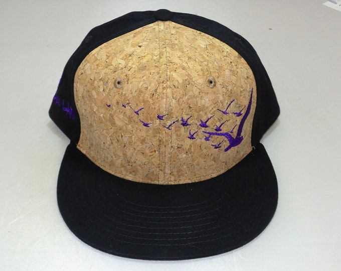 Snapback Flat-Brim Hat - Flock of Seagulls (One-of-a-kind)