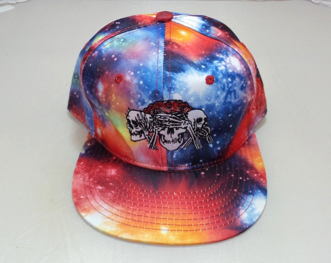 Snapback Flat-Brim Hat - No Evil (One of a kind)