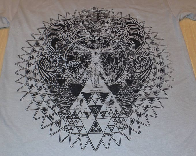 T-Shirt - Fractal of Self (Black on Ice Gray)