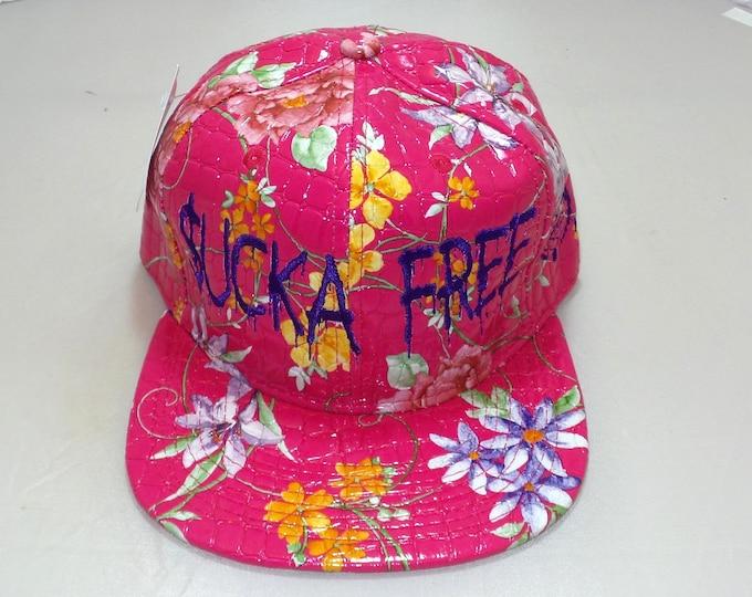 Snapback Flat-Brim Hat - Sucka Free (One-of-a-kind)