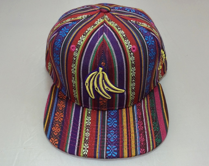 Snapback Flat-Brim Hat - Bananas (One-of-a-kind)