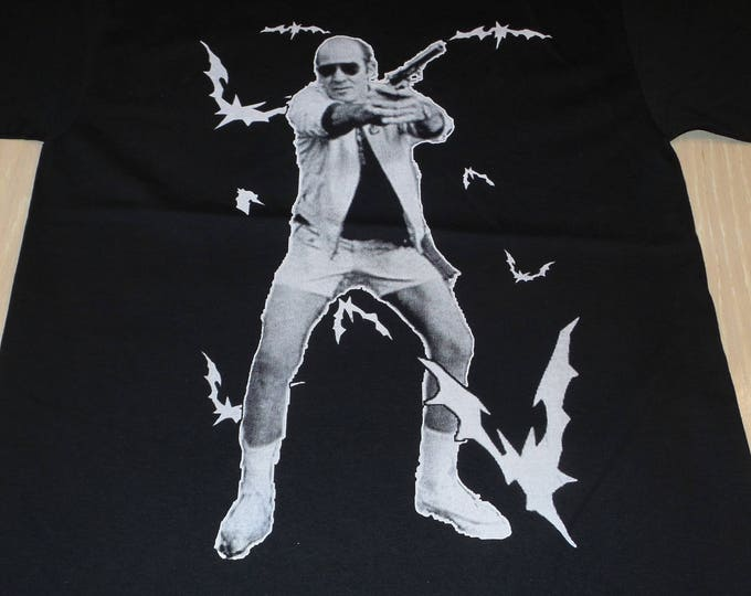 T-Shirt - Bat Country (White on Black)