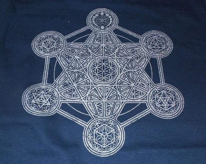 T-Shirt - Metatron's Elements (Silver on Navy)