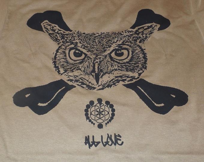 T-Shirt - Owl Crossbones