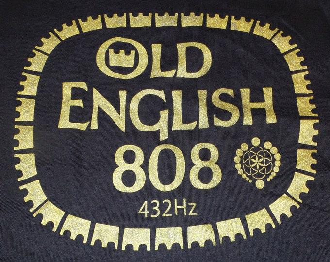 T-Shirt - Old English 808 (Gold on Black)