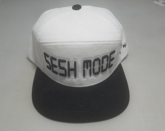 Snapback Flat-Brim Hat - Sesh Mode (One-of-a-kind)