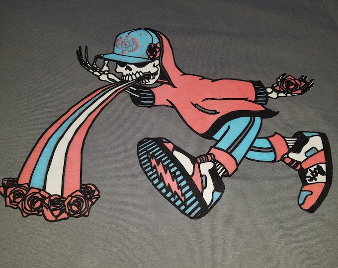 Women's T-Shirt - Too Much Too Fast (Red/White/Blue on Gray)