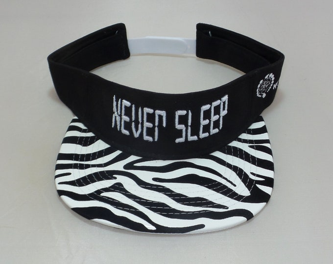 Snapback Flat-Brim Visor - Never Sleep (One-of-a-kind)