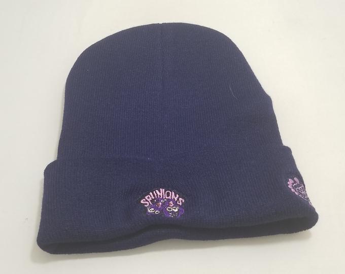 Sock Hat - Spunions (Purple on Navy)
