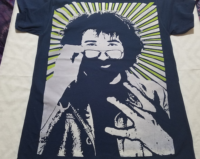 T-Shirt - Westside Jerry (White/Green on Navy)