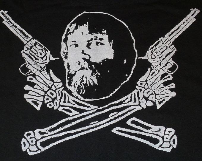 T-Shirt - Brent Mydland Guns (White on Black)