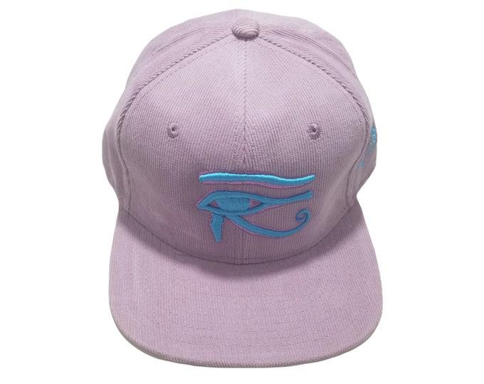 Snapback Flat-Brim Hat - 3D Eye of Horus (One-of-a-kind)