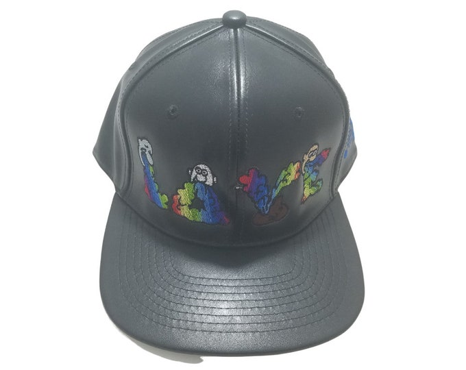 Snapback Flat-Brim Hat - And Then There Were Rainbows (One-of-a-kind)