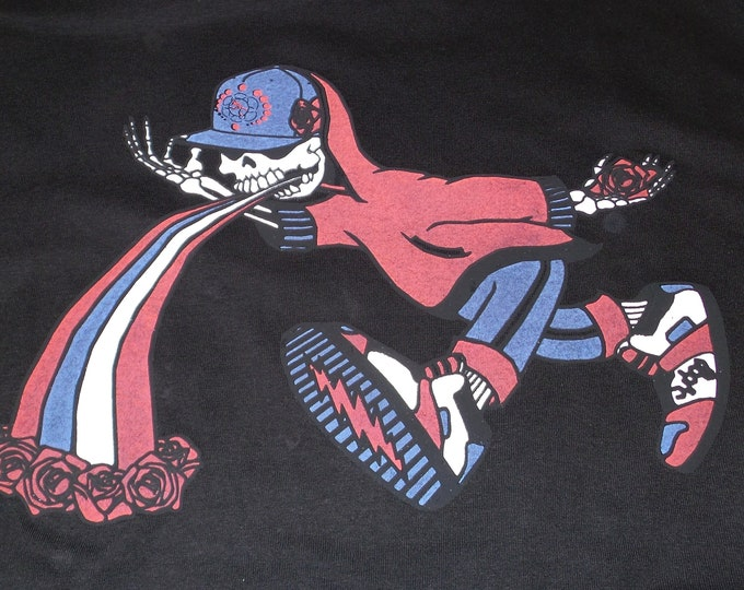 T-Shirt - Too Much Too Fast (Red/Blue on Black)