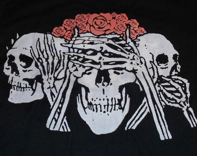 T-Shirt - No Evil (White/Red on Black)