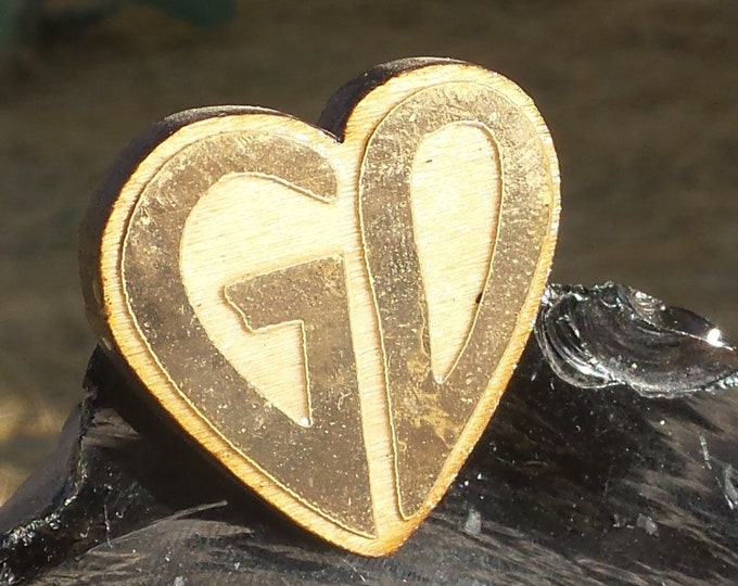 Pin - GD Heart (Abalone and Gold Leaf versions available)