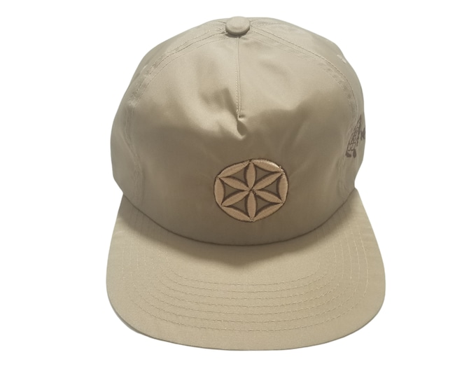 Buckle-back Flat-Brim Hat - Seed of Life (One-of-a-kind)