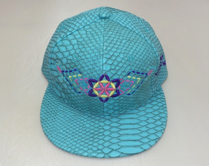 Buckle-back Flat-Brim Hat - Plant (One-of-a-kind)