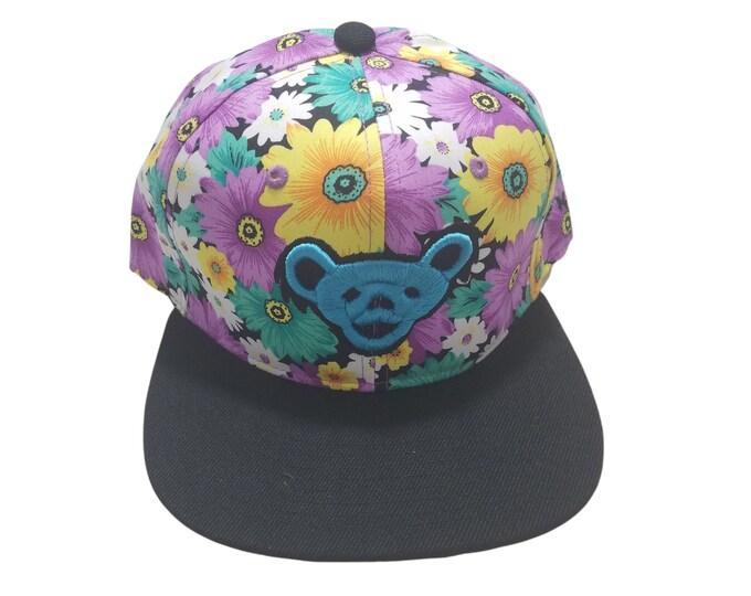 Snapback Flat-Brim Hat - Jerry Bear (One-of-a-kind)