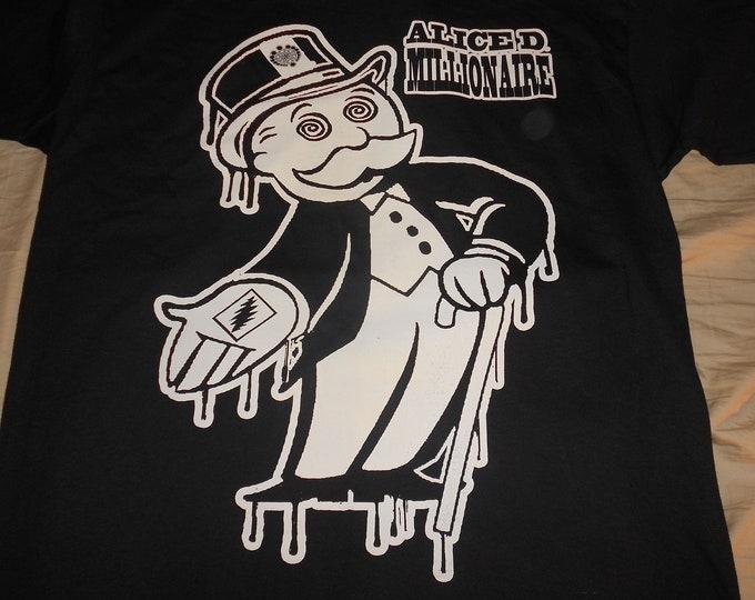 T-Shirt - Alice D Millionaire (White on Black)