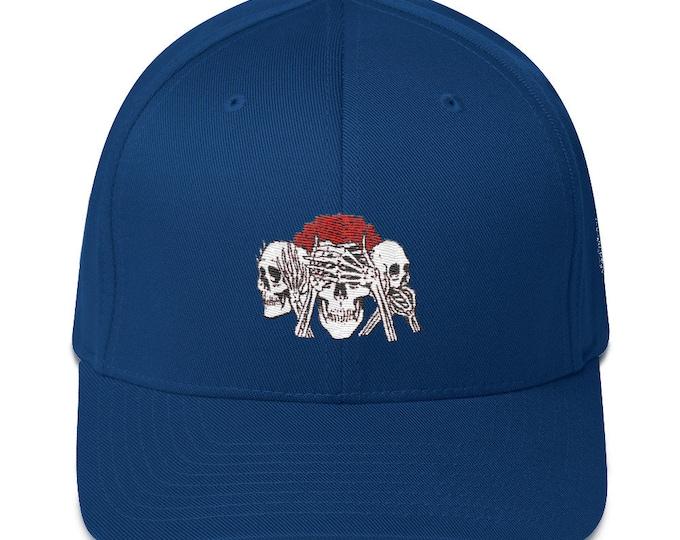 Flex-Fit Bent-Brim Hat - No Evil