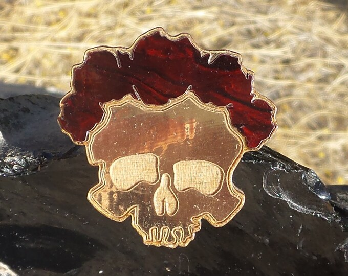 Pin - Bertha (Gold Leaf or Plain Wood versions available)