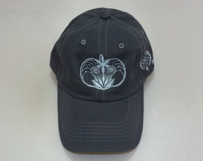 Buckle-back Dad Hat - Ammonite Lotus (One-of-a-kind)
