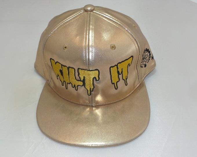 Snapback Flat-Brim Hat - Kilt It (One-of-a-kind)