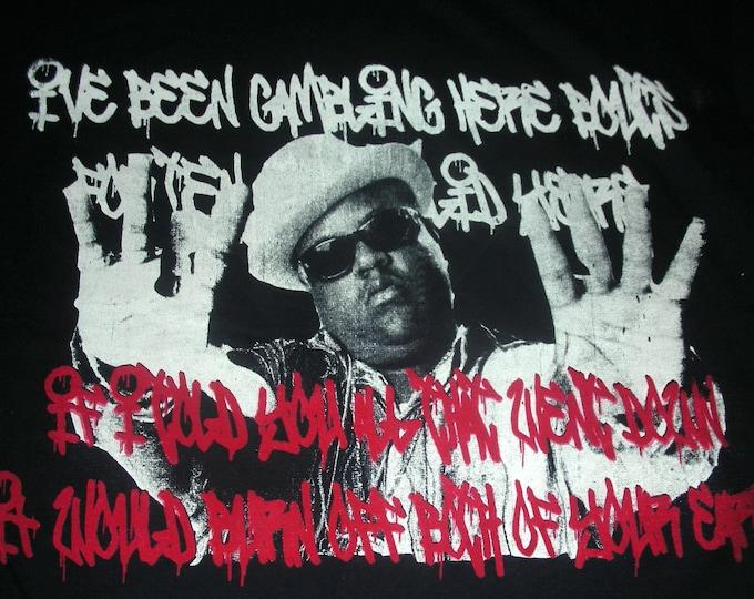T-Shirt - Bigg Deal (White/Red on Black)