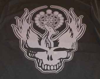 T-Shirt - Steal Your Phoenix (Peach on Brown)