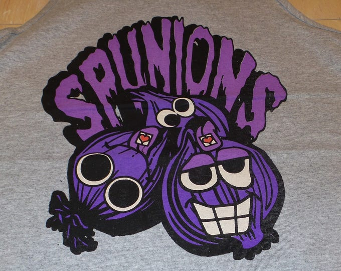 Men's Tank Top - Spunions (Purple/Black on Gray)