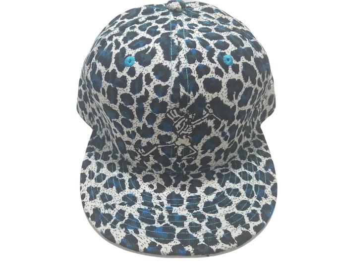 Snapback Flat-Brim Hat - Dabbing Skeleton (One-of-a-kind)