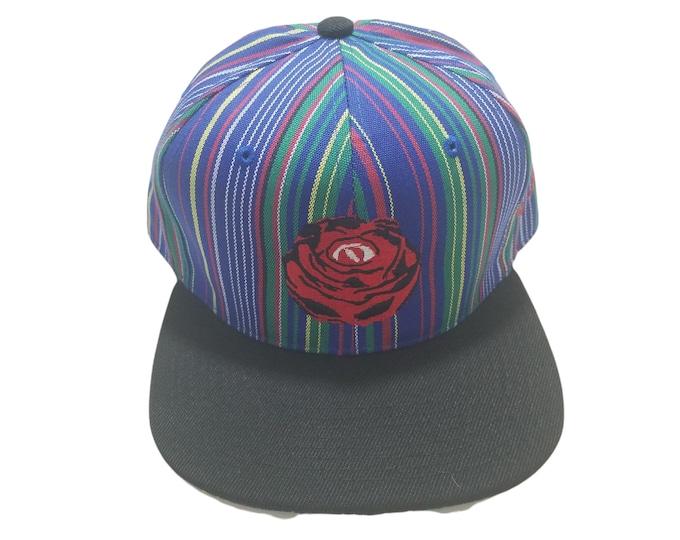 Snapback Flat-Brim Hat - Rose Eye (One-of-a-kind)