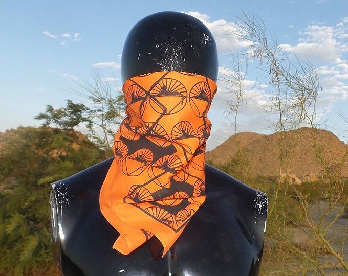 Bandanna - Cats Under the Stars (Black on Orange)