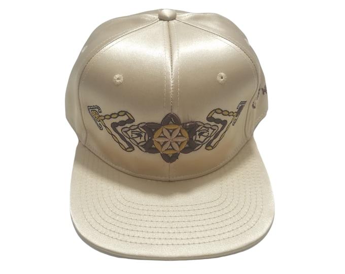 Snapback Flat-Brim Hat - Plant of Life (One-of-a-kind)