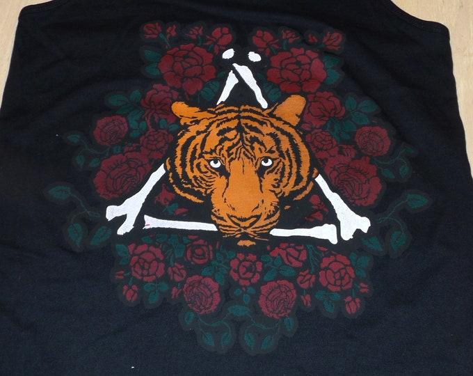Women's Tank Top - Tiger Rose (on Black)