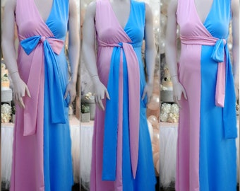 pink and blue dress
