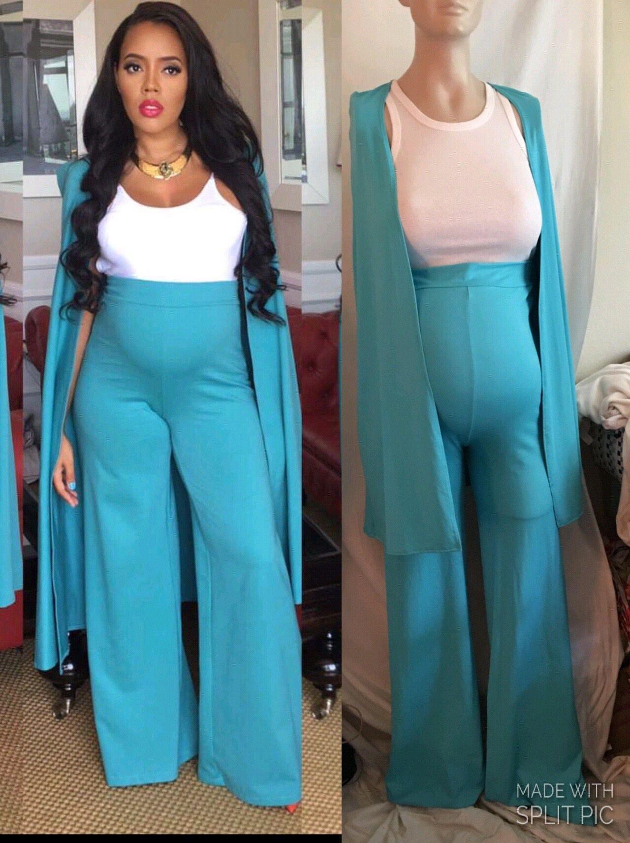 Maternity pants suit/ maternity cape/blazer /maternity wear/ | Etsy
