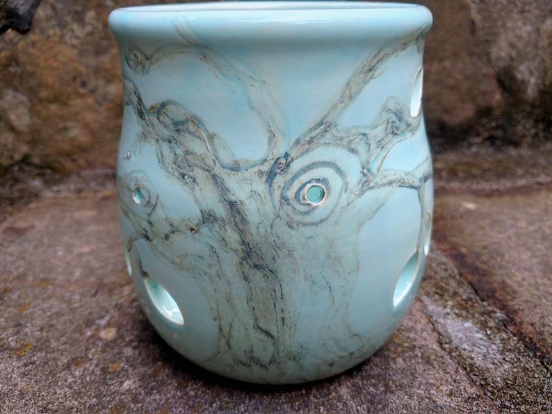 Pottery Luminary, Ceramic Luminary, Luminary, Candle Holder, Tree Of Life,  Home Decor, Ready To Ship