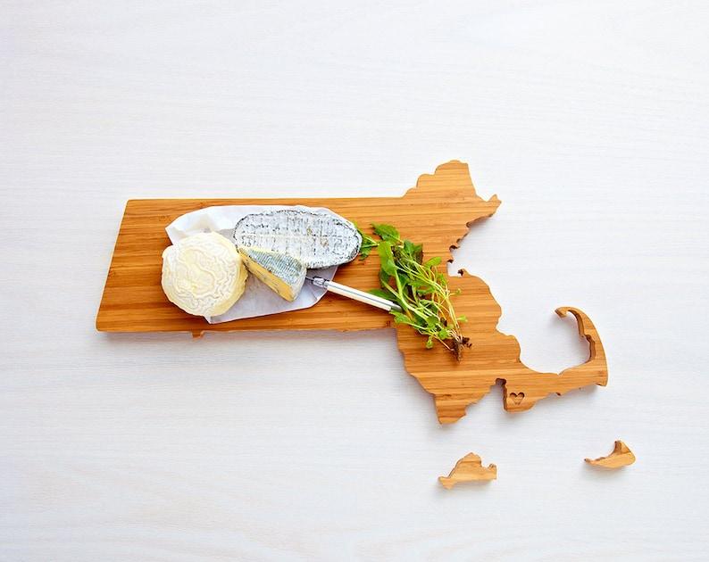 Massachusetts Cutting Board Wood Cutting Board Massachusetts image 0