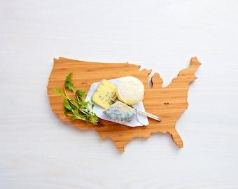 USA Cutting Board, Wood Cutting Board, USA Gift, Engraved Board, Custom Cutting Board, Personalized Board, USA Board, Serving Tray
