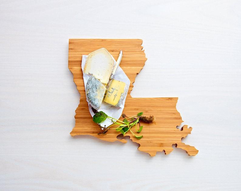 Louisiana Cutting Board Wood Cutting Board Louisiana Gift image 0
